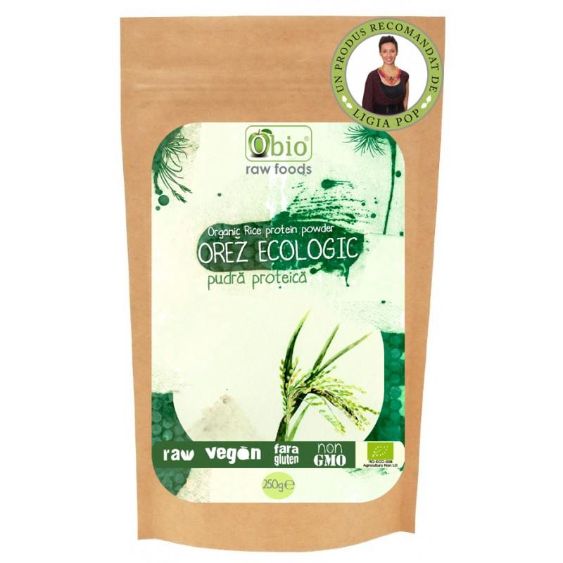 Pudra proteica din orez premium (250g), Obio