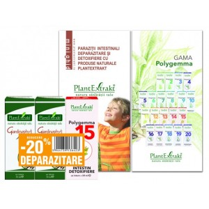Pachet Promotional Deparazitare ( 2 x Giardinophyt solutie + 1 Polygemma 15), Plantextrakt