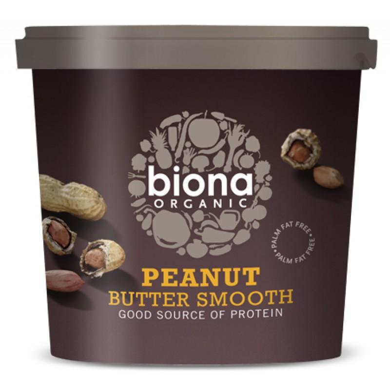 Unt de arahide smooth fara sare bio (1 kg), Biona