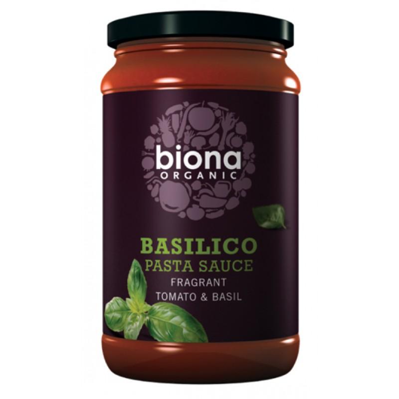 Sos Basilico pentru paste cu busuioc bio (350 grame), Biona