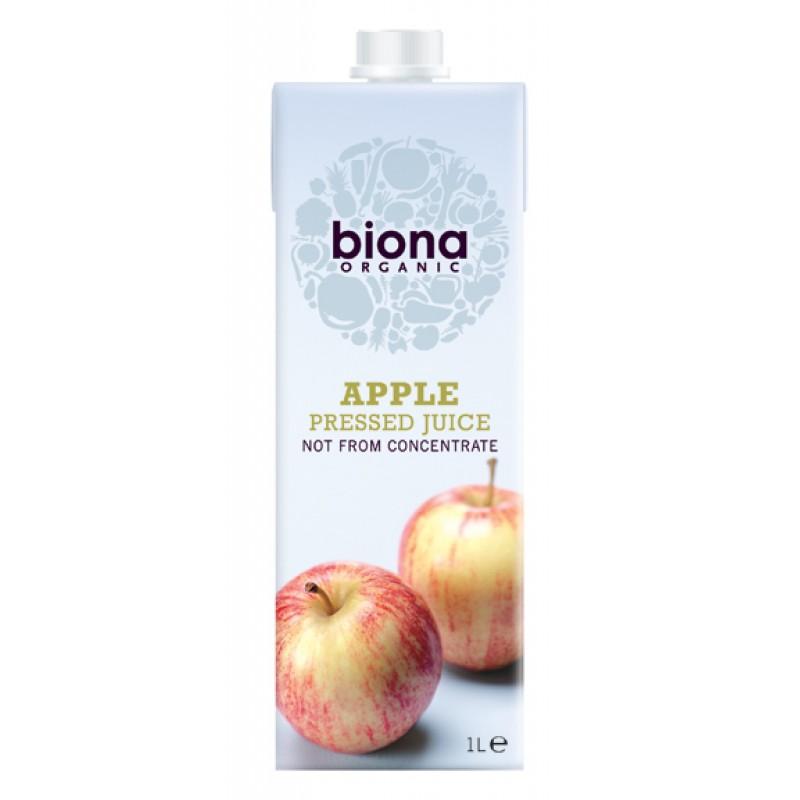 Suc de mere nefiltrat bio (1 litru), Biona
