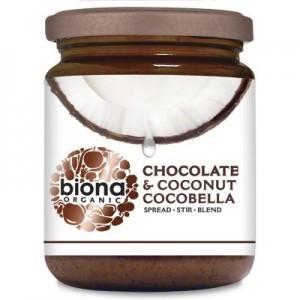Unt de cocos cu ciocolata CocoBella bio (250 grame), Biona