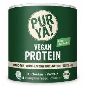Proteina vegana din seminte de dovleac raw bio (250 grame), Pur Ya!