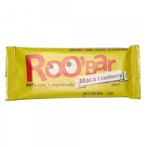 Baton raw bio cu maca si merisor (30g),Roobar