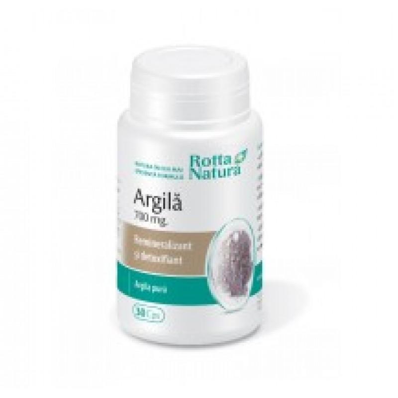 Argila 700mg (30 capsule), Rotta Natura