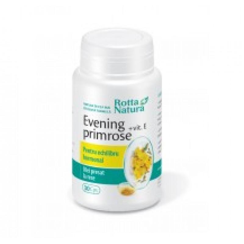 Evening Primrose+Vitamina E (30 capsule), Rotta Natura