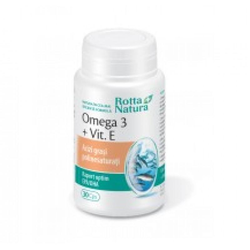 Omega 3 1000mg+Vitamina E (90 capsule), Rotta Natura