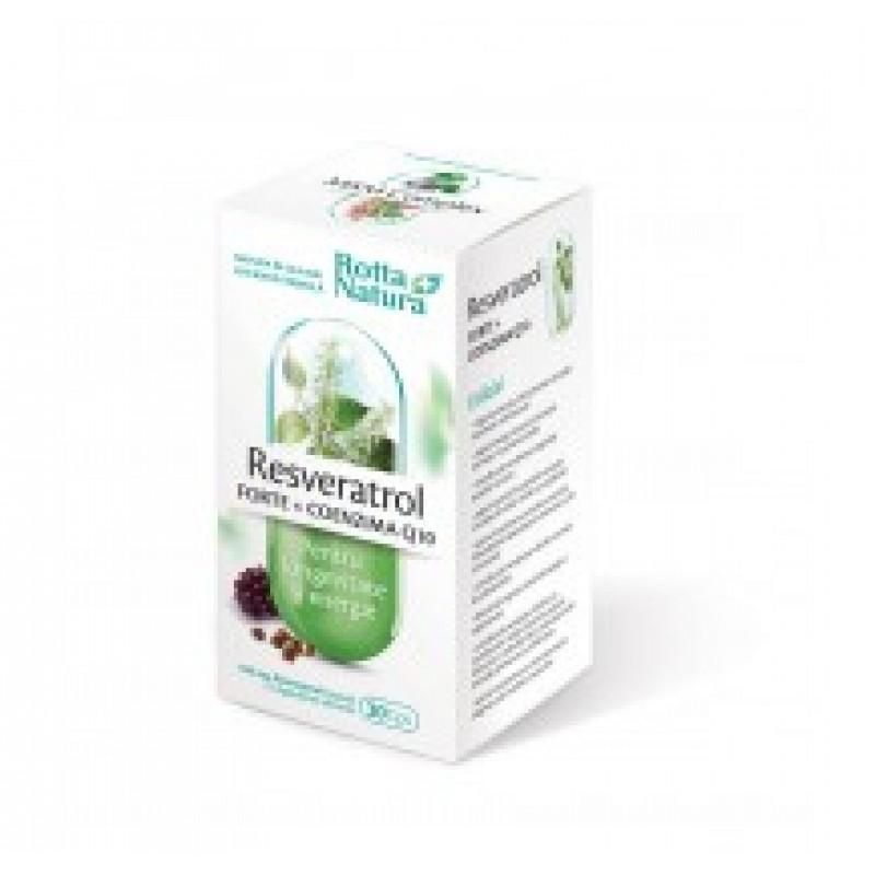 Resveratrol forte + Coenzima Q10 (30 capsule), Rotta Natura