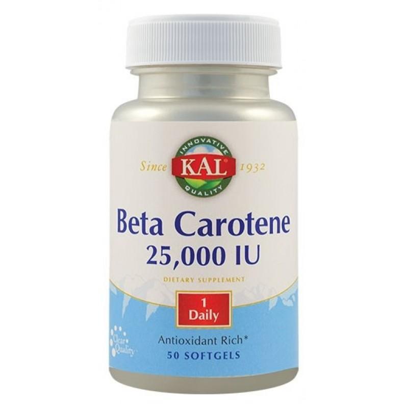 Beta Carotene 25000 UI (50 capsule), Kal