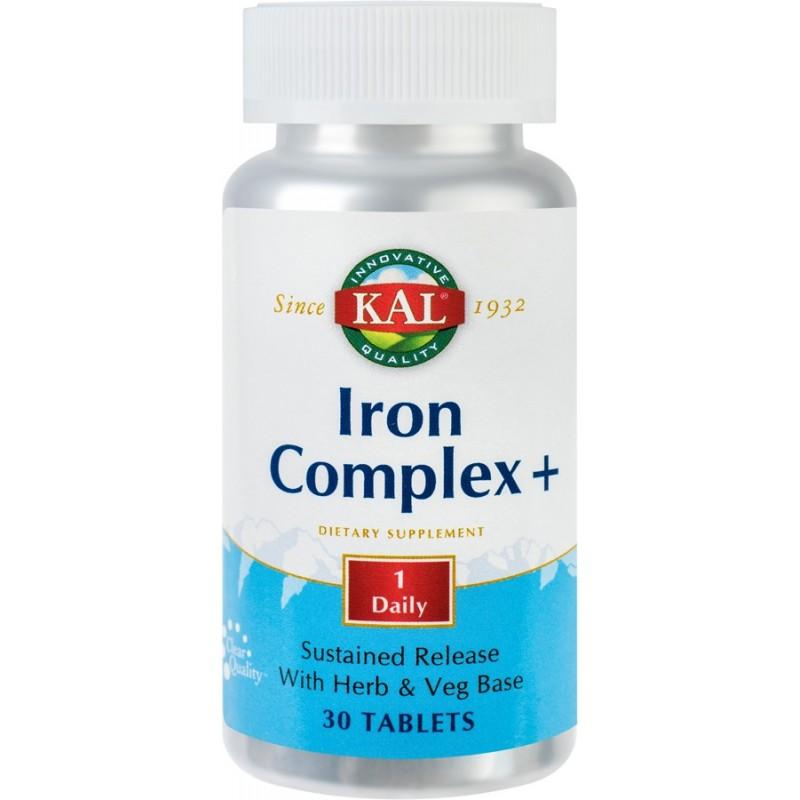 Iron Complex + (30 tablete cu eliberare prelungita), Kal