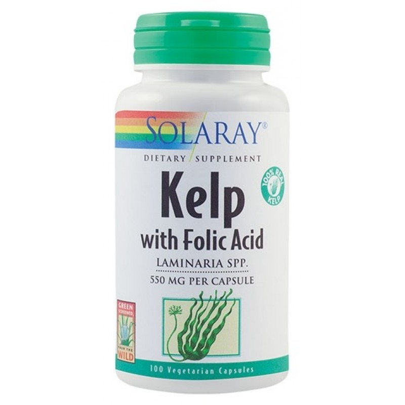 Kelp 550 mg (100 capsule vegetale), Solaray