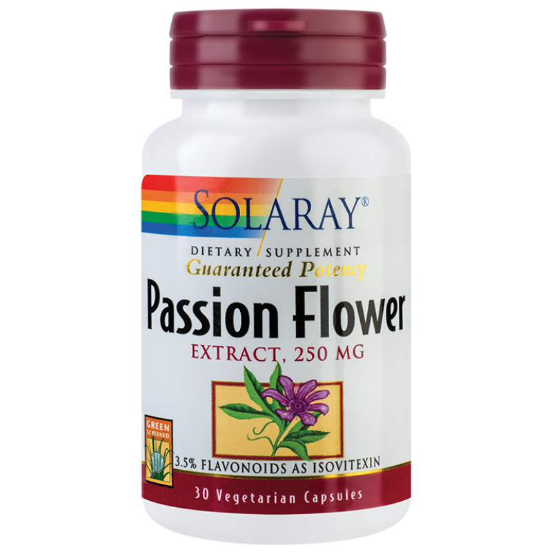 Passion Flower (floarea pasiunii) (30 capsule), Solaray