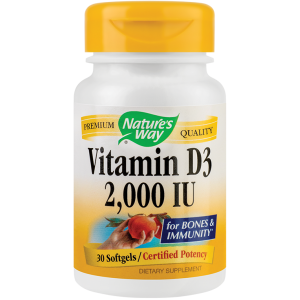 Vitamin D3 2000UI (30 capsule), Nature's Way