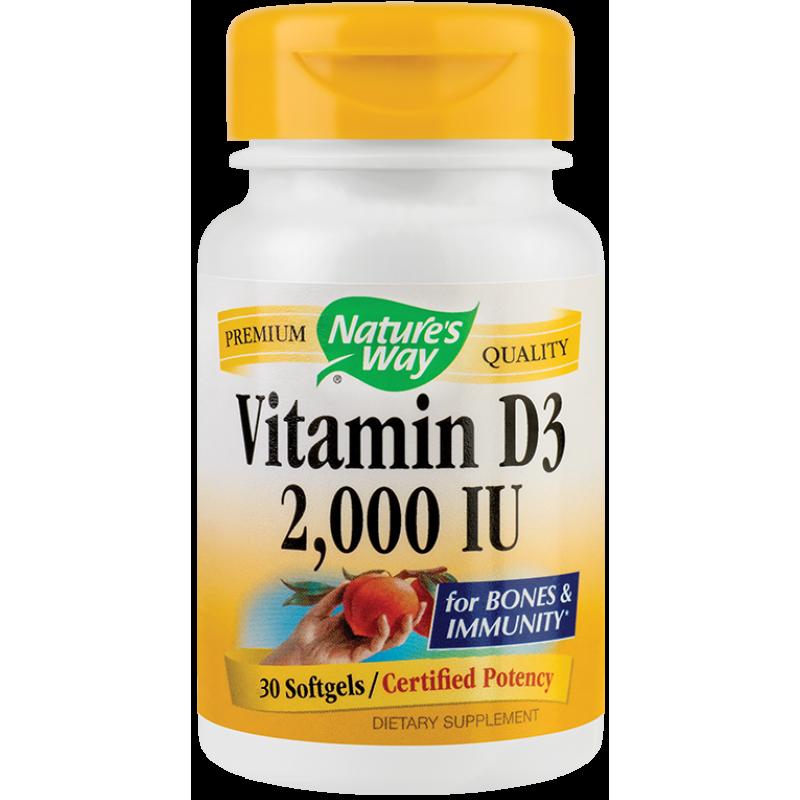 Vitamin D3 2000UI (30 capsule), Nature's Way