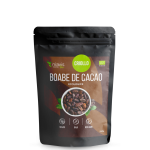 Boabe cacao intregi organice BIO (125 grame), Niavis