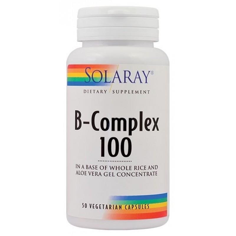 B-Complex 100mg (50 capsule), Solaray