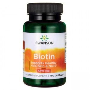 Biotina (Vitamina B7) 5mg (100 capsule), Swanson