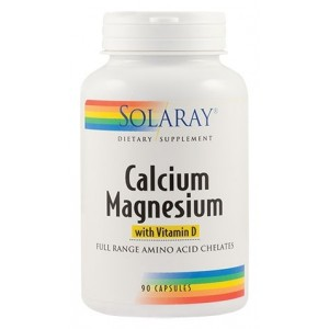 Calcium Magnesium with Vitamin D (90capsule), Solaray