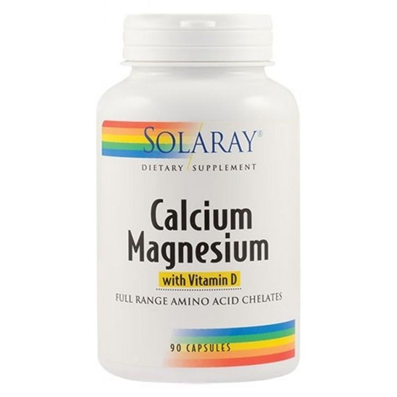 Calcium Magnesium with Vitamin D (90capsule), Solaray