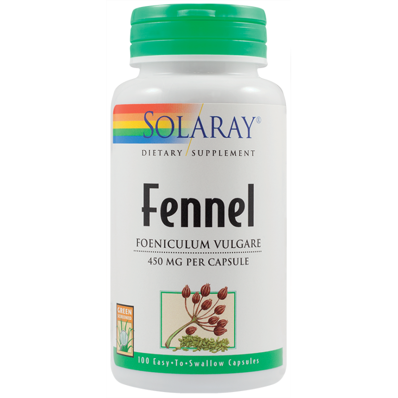 Fennel 450mg (100capsule) (Fenicul), Solaray