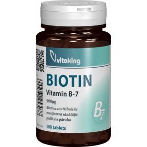 Vitamina B7 (biotina) 900 mcg (100 comprimate), Vitaking
