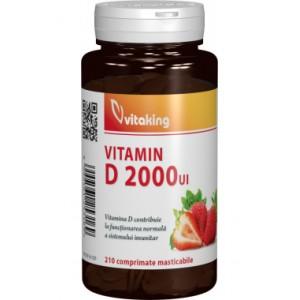 Vitamina D 2000UI masticabila (210 comprimate), Vitaking