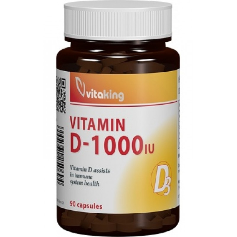 Vitamina D3 - 1000UI (90 capsule), Vitaking