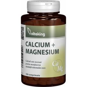 Calciu-Magneziu 500/250 (100 comprimate), Vitaking