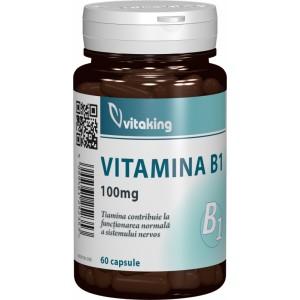 Vitamina B1 (tiamina) 100mg (60 capsule), Vitaking