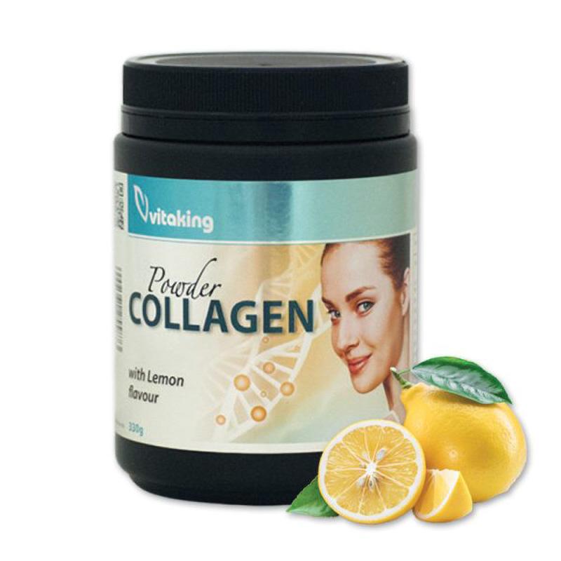 Colagen cu Vitamina C si aroma de lamaie (330 grame), Vitaking