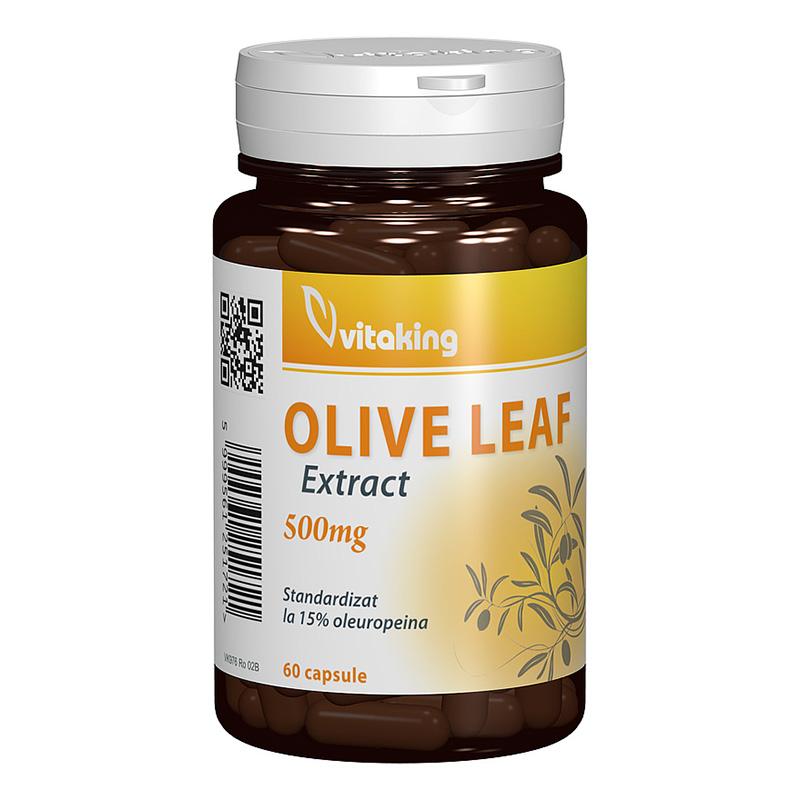Extract standardizat din frunze de maslin 500 mg (60 capsule), Vitaking