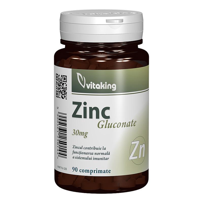 Gluconat de zinc 25 mg (90 comprimate), Vitaking