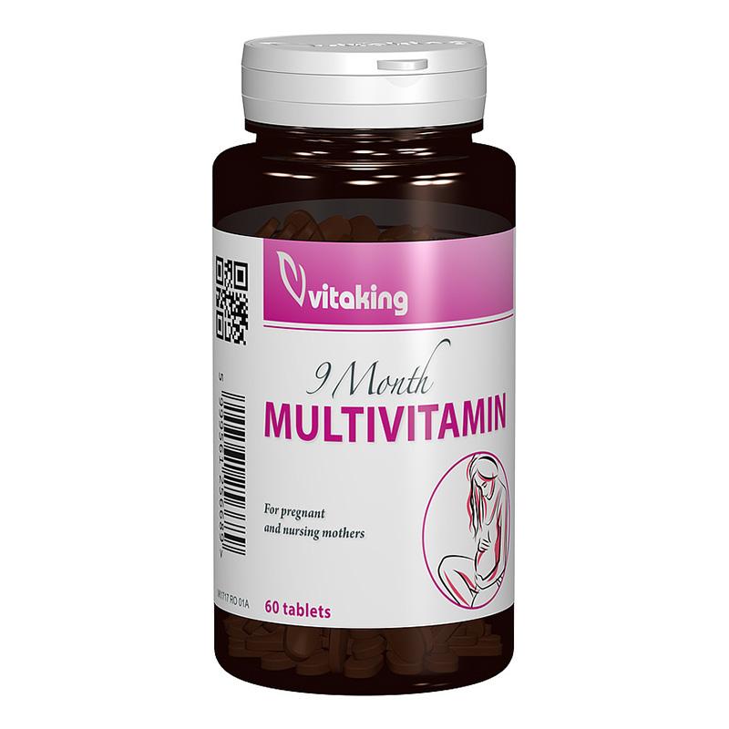 Multivitamina cu minerale 9 Months (60 comprimate), Vitaking
