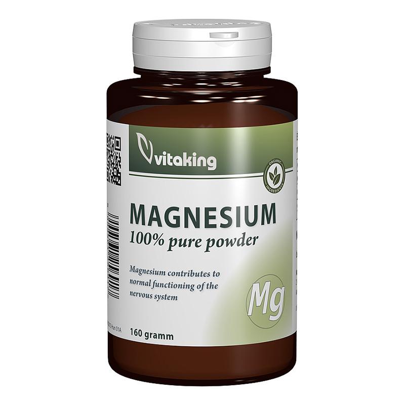 Pulbere de citrat de magneziu (160 grame), Vitaking