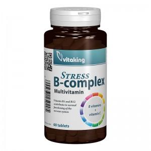 Stress B Complex cu Vitamina C (60 comprimate), Vitaking