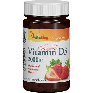Vitamina D 2000UI masticabila (90 comprimate), Vitaking
