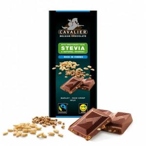 Ciocolata de lapte belgiana cu orz si orez expandat (85 grame), Cavalier