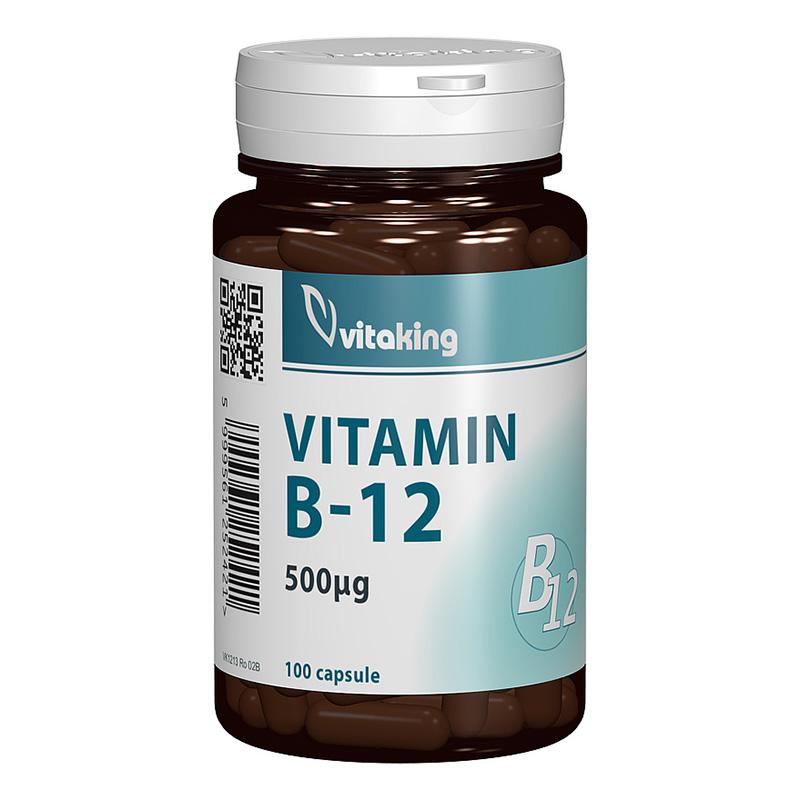 Vitamina B12 Cianocobalamina 500 mcg (100 capsule), Vitaking