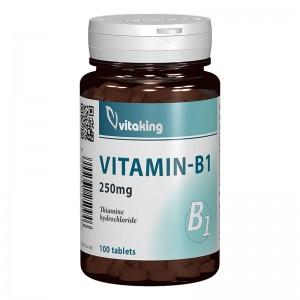 Vitamina B1 Tiamina 250 mg (100 comprimate), Vitaking