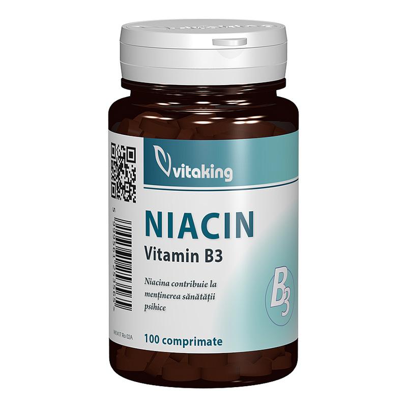 Vitamina B3 Niacina 100 mg (100 comprimate), Vitaking