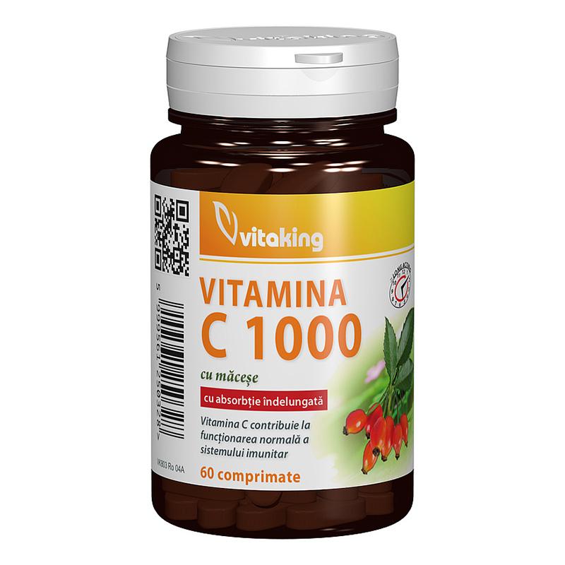 Vitamina C 1000 mg cu absorbtie indelungata (60 comprimate), Vitaking