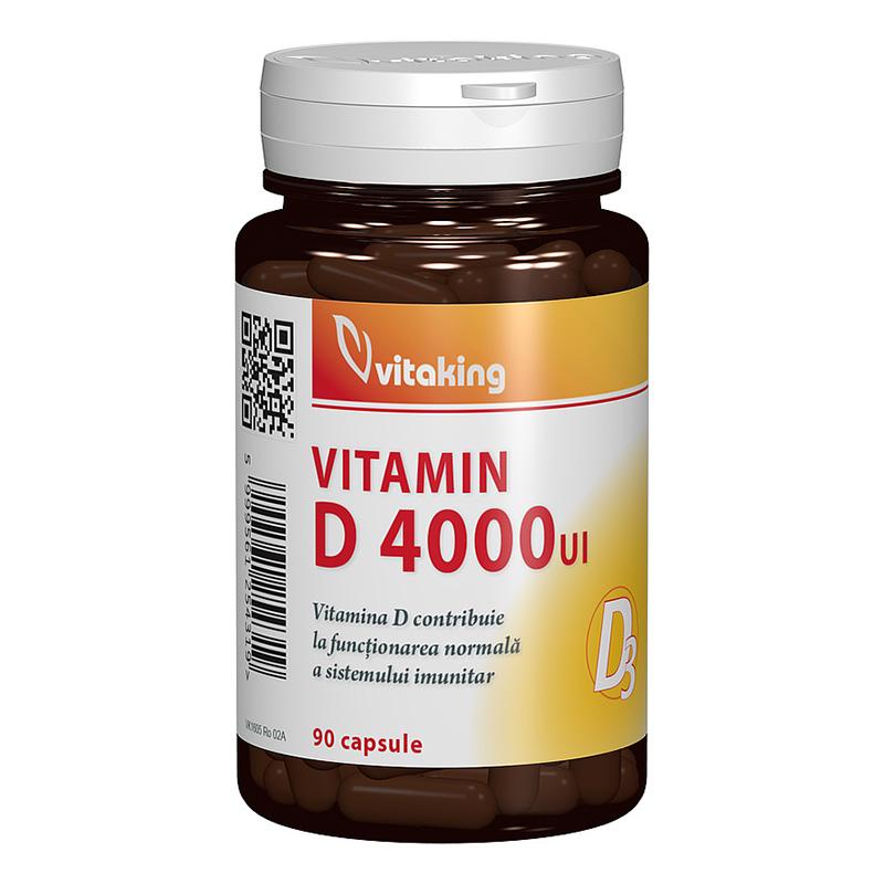 Vitamina D3 Forte 4000 UI (90 capsule), Vitaking