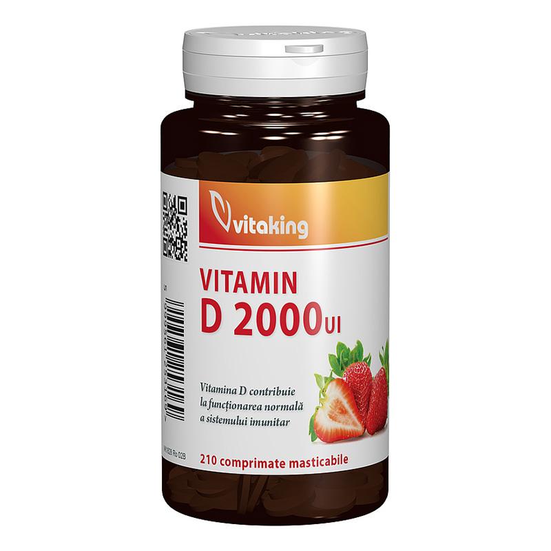 Vitamina D 2000 UI masticabila (210 comprimate), Vitaking