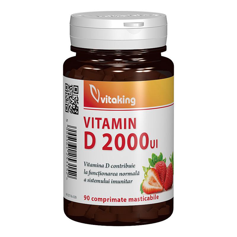 Vitamina D 2000 UI masticabila (90 comprimate), Vitaking